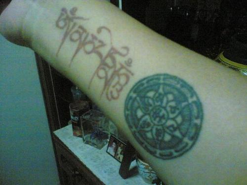 Tags: om mani padme hum , tattoo , buddhism , buddhist