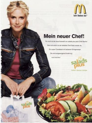 Salad at McDonald's - Heidi Klum in a Danish McD's advert
