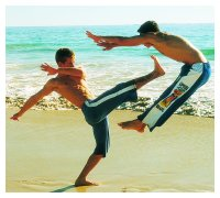 this is the capoeira - capoeira is a dance but also to lear how to defense your self