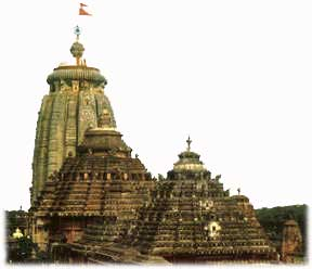 The holy JAGANNATH temple - Shrine of Lord Jagannath, Lord Balabhadhra and Godess Subhadra