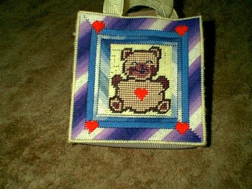 bear bag - this is the bag i was working on while i was in labor with our 3rd baby.
