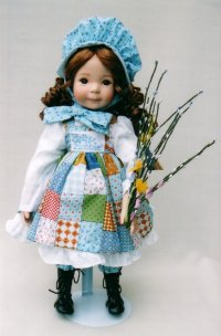 Holly Hobbie - Holly Hobbie (born 1944) is an American writer and illustrator.  Hobbie is the author of the popular Toot and Puddle children's books, and creator of the character bearing her name. She today lives in Conway, Massachusetts.  Born Denise Holly Ulinskas, she married Douglas Hobbie in 1964.