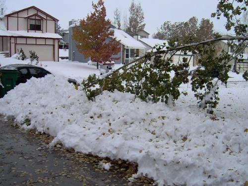October  Blizzard - Our first snow of the year
