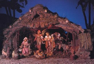Nativity Scene - This is a nativity scene.  It depicts the birth of Jesus in the manger.
