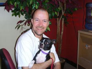 Rita and Bigbear - Rita, my Boston Terrier and Big Bear.