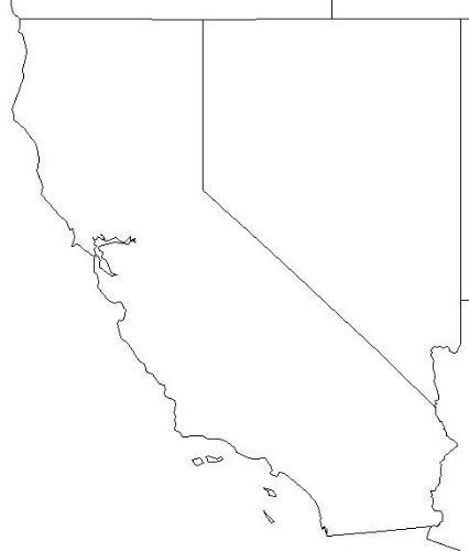 Map of USA highlighting California! - Map of USA highlighting California!