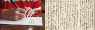 Handwritten Letter  - Internet reduces writing of letter, but still letter is written from rural areas.