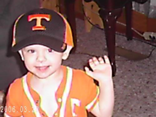My little boy Tyler - This is a true Tennessee fan.He's so cute.