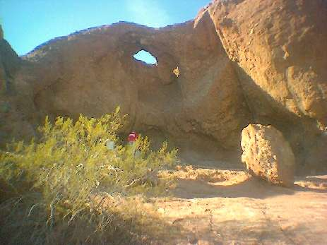 """Hole in The Rock""  - at a park in Phoenix AZ.  check it out if you go!"