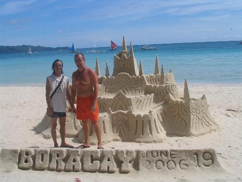 Sand Castle at Boracay - Big Bear and Lil Bear enjoyed a couple days at Boracay.