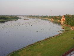 River Cauvery - Photographed at Srirangappattana, Near Mysore. It is River Cauvery - life line of Bangalore City.