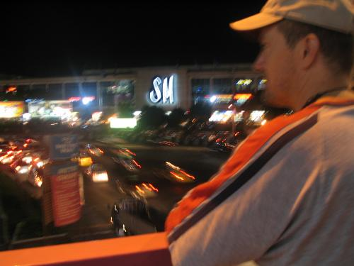 Big Bear on a bridge in Quezon City - on one of the many crossover bridges in town