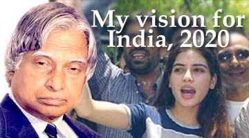 India 2020 - APJ Abdul Kalam with his vision of India as a developed country by 2020