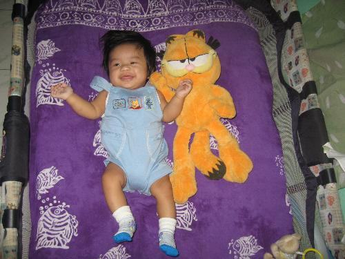 My Son Nathan - My son Nathan. He's 5 months old now.He's really really cute. I lovee him so much.