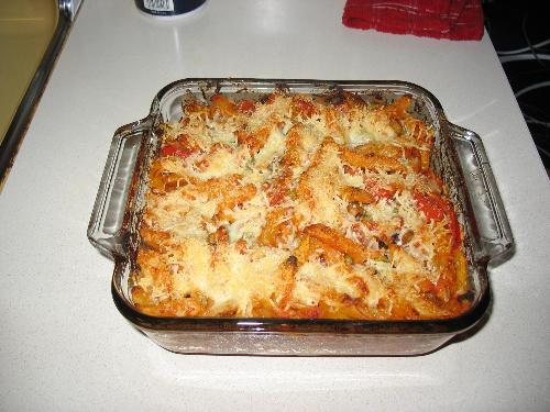 Baked Penne with Roastes Vegetables - Baked Penne with Roasted Veggies