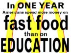 fastfood vs. education - fastfood vs. education