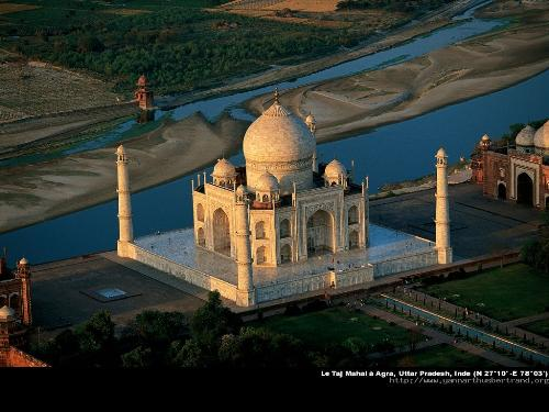 top View of Tajmahal  - A Beautiful top View of Tajmahal
