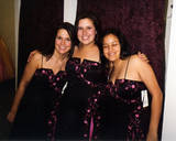 Prom Dresses - This is a picture of me and some friends trying on prom dresses.