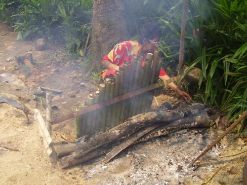 Lemang - My beloved mother prepare the lemang for hari raya last year. so delicious!!!