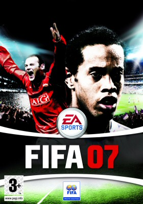 Fifa 07 - The outer cover of fifa 07 starring the great rooney and ronaldinho