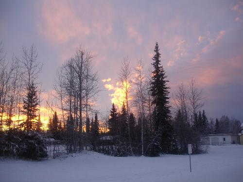 Fairbanks Sunset - Here is our sunset at 248PM