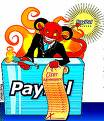 Paypal payment - Paypal is a online banking account .It is said that it is safe and fast.but it can freez ur account also.