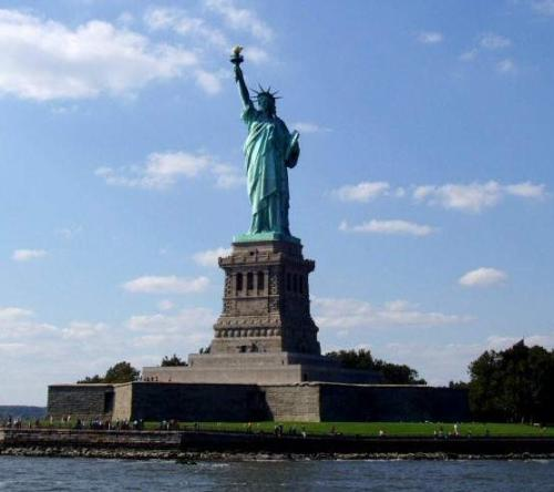 Liberty statue - One of the seven wonders of the world.