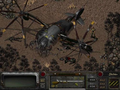 Fallout 2 - A screenshot picture taken from the PC game - Fallout 2.
