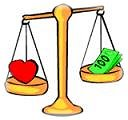love v/s money - love or money