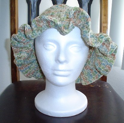 Green Crocheted Hat - A bucket hat I designed.