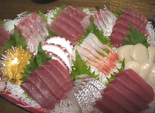 Sashimi - Sashimi. One of Japanese food made from a fresh fish!