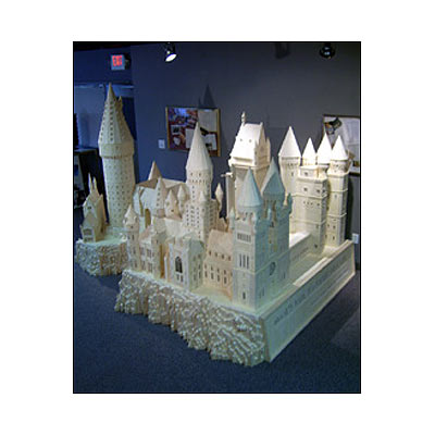 Hogwarts castle - This castle is entirely made up of matchsticks. This was the miniature model displayed in an exhibition.