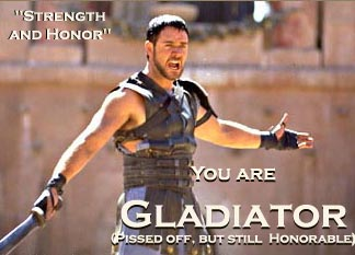GLADIATOR - My best pick for a Great Movie.