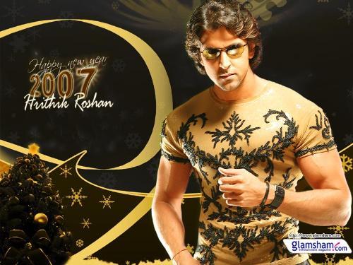 "Its""Hrithik Roshan"" - Indian Super-Hero and Villian (D2) wishing u New year 2007"