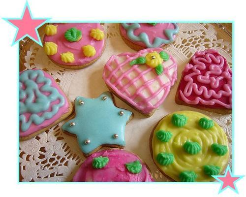 good cookies - there some cookied covered with chocolate and some covered with caramel frosting, there are so many different kinds of cookies, have you ever tryed counting how many there are?
