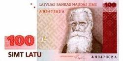 100 LS 100 Lati Latvian banknote - This is a picture of 100 Lats Lats are Latvian money Money is... Ok you know what is money =D