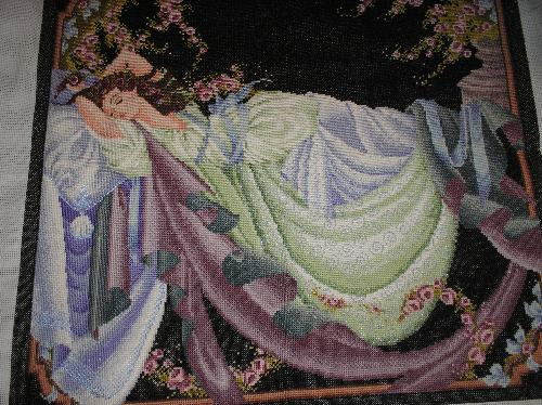 Sleeping Beauty - This is one of my favorite cross-stitching projects. Sleeping Beauty. It took me months and months to finish it, but i love it!