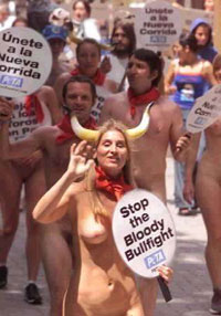 nude protester - nude protesters