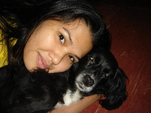 me & monica - monica is my dog, a beautiful black cocker spaniel who's been with my family for more than 5yrs. i love her!