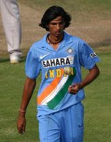 With his remarkable height..... indian fast bowler - ishant sharma....................