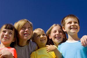 Children - group of happy children