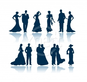 Evening Silhouetts - Silhouetts of couples