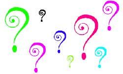 questions! - Question mark!
