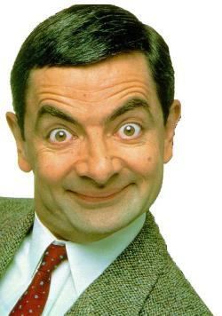 mr bean - the funniest person who never talks...but still makes us laugh only by his expressions and actions