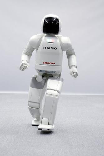 The Future Man - This is the Asimo robot built by honda.. and the sophisticated one  and do al ot of activities like jumping,staircase walkin,running,