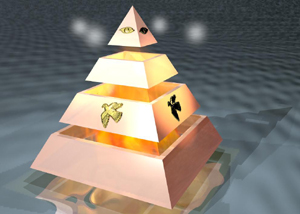 Pyramids and the mind - I created this pyramid in Bryce 4