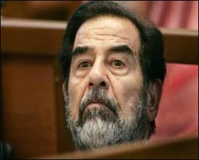 Saddam - Saddam in court