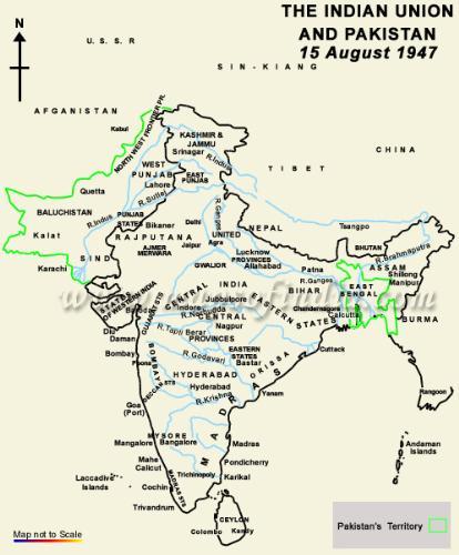 india in 1947 - my india