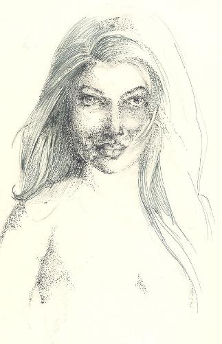 A model - A pen and ink drawing