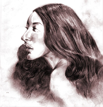Hair - A pencil drawing using HB